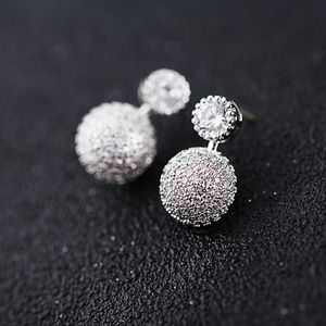 Simple Style Cubic Zirconia Earring